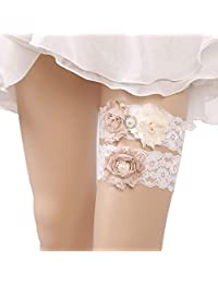 ChicChic Women's Stretchable Lace Bridal Accessory Wedding Garter for Bride with Toss Away