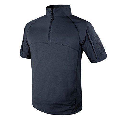 Condor Outdoor Tactical Short Sleeve Combat Shirt (Large, Navy Blue)