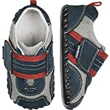 Baby : pediped Originals Adrian Sneaker (Infant),Navy/Grey/Red,Small (6-12 Months)