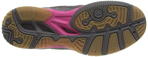 Asics Womens Gel 1150v Volley Shoe Shoe Smoke / Knock Out Rosa / Argento