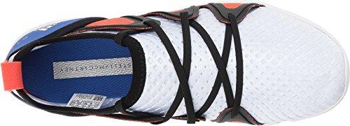 Adidas Fra Stella Mccartney Kvinners Crazymove Pro Joggesko Kjerne Hvit / Høyoppløselig Blå S18 / Semi Solar Rød