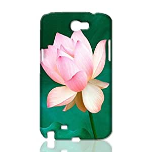 Lotus with green background scenery 3D Rough Skin, fashion image custom, hard 3D , New For SamSung Galaxy S4 Case Cover By Codystore