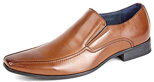 interior de de Reino a 13 con hombre Marrón piel para tallas Zapatos forro Unido 6 Canela RPBwIXxq7