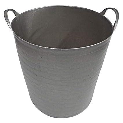 Capazo de plá stico reciclado (42 litros, Plata) PAMEX