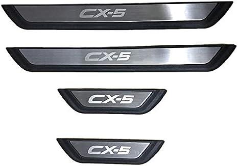 LFOTPP Lot de 4 protections de seuil en acier inoxydable pour seuil de porte CX-5