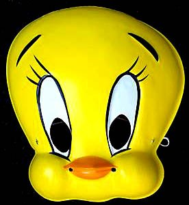 Looney Toons Tweety Bird - Looney Toons - Child Tweety Bird Mask