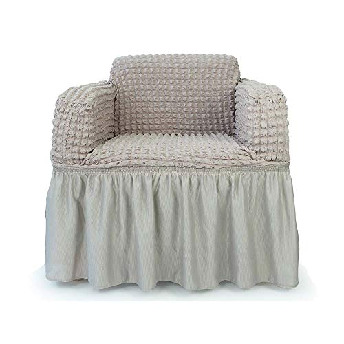 - STARS 1-Piece Stretchable Easy Fit Sofa Cover Durable Furniture Slipcover in Country Style Made of Machine Washable and Quick-Drying Fabric for 1-seat armchair(Chair,Gray) by