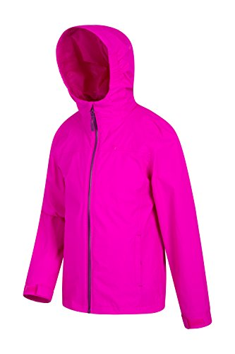 Seams Features for Jacket Coat Rain Waterproof Taped Coat Adjustable Pockets Ideal Pink Bright Warehouse Mountain Jacket Childrens Summer Zipped Kids Torrent Summer Travelling wUqxYCF6