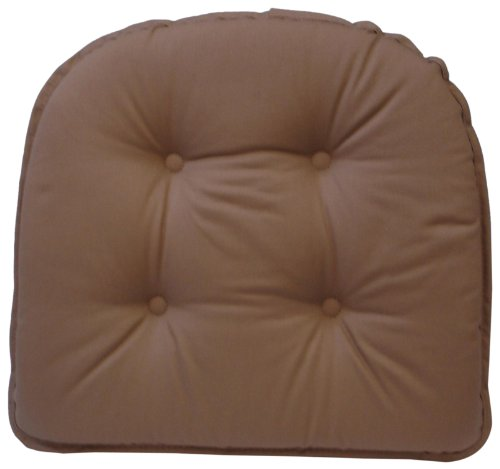 - Klear Vu Gripper 100-Percent Cotton Twill Chairpad, Brownstone