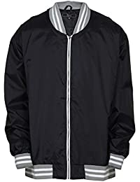 Men's Big & Tall Full Zip Varsity Windbreaker Jacket