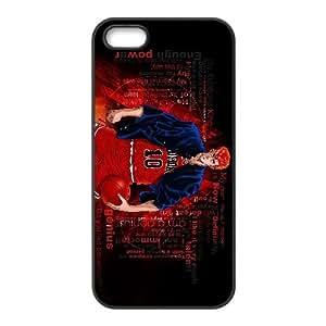 Clavada 004 iPhone 5 5S caso de la cubierta Negro Funda caja del teléfono celular Funda Cubierta EEEXLKNBC07915