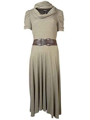 Buy belted cowl neck dress - 8