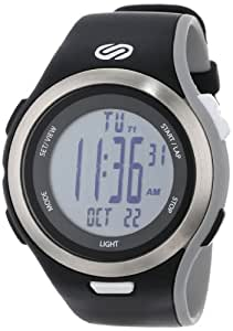 Soleus Men's SR010005 Ultra Sole Grey Digital Dial with Black and Grey Polyurethane Strap Watch