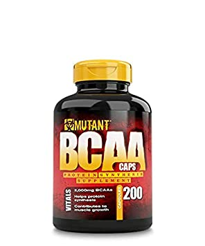 Mutant BCAA 400 – Protein Synthesis Amino Energy Supplement, Helps Muscle Growth with Protein Synthesis, Complete BCAA Formula, 100 Free Form BCAAs In Ultra-Fast Absorption Capsule, 400 Count