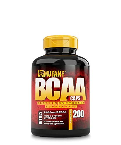 Mutant BCAA 200 - Protein Synthesis Amino Energy Supplement, Helps Muscle Growth with Protein Synthesis, Complete BCAA Formula, 100% Free Form BCAAs In Ultra-Fast Absorption Capsule, 200 Count