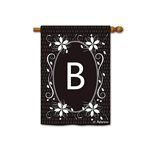 Kafepross Classic Flowers Monogram B Decorative House Flag L