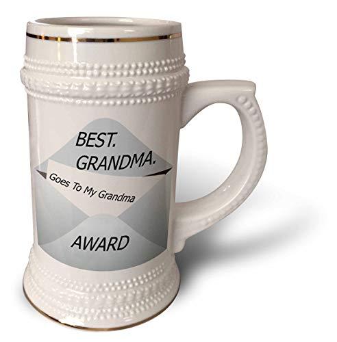 3dRose lens Art by Florene - Academy Awards For Family - Image of Best Grandma Award Goes To My Grandma On Envelope - 22oz Stein Mug (stn_309022_1)