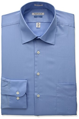blue sateen dress shirt - 5