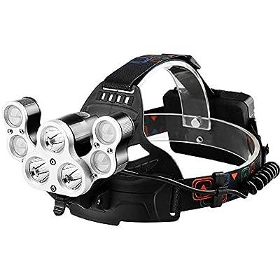 MUTANG Multi-lamp Headlights Glare USB Rechargeable High Power Super Bright Head-Mounted Miner's Lamp 3000 Lumens Waterproof Led Fishing Flashlight