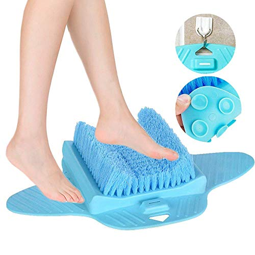 Foot Scrubber, Foot Brush Bristles Deep Clean, Hard Dead Rough Dry Skin Callus Exfoliate Stimulate Feet Cleaner Scrub Massager Spa for Shower Floor (Blue)