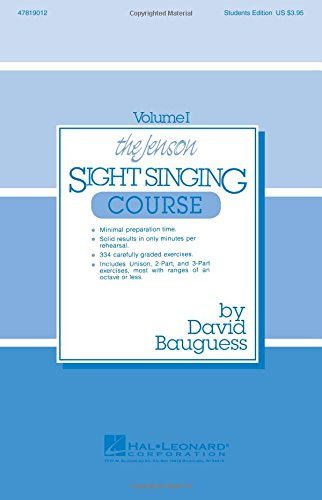 The Jenson Sight Singing Course (Vol. I) (Methodology Chorals Singer)