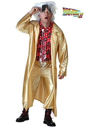 Plus Size Back to The Future II Doc Brown Costume -