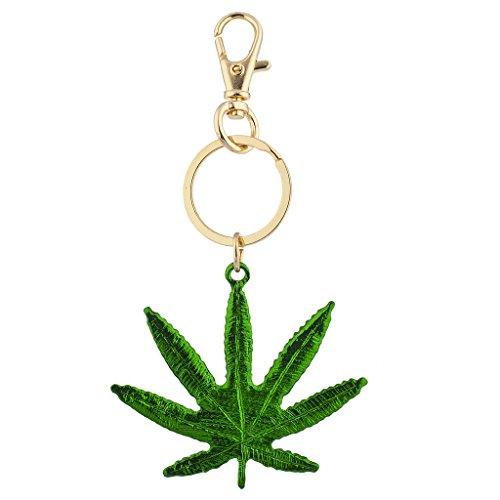 Lux Accessories Marijuana Weed Pot Leaf 420 Green Goldtone ()