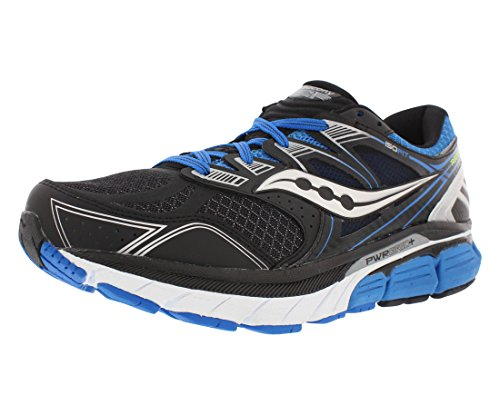 Saucony Men's Redeemer ISO Running Shoe, Black/Blue,12 M US