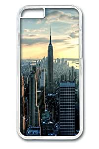 iPhone 6 Case and Cover -Empire State City Custom PC Hard Case Cover for iphone 6 4.7 inch Transparent