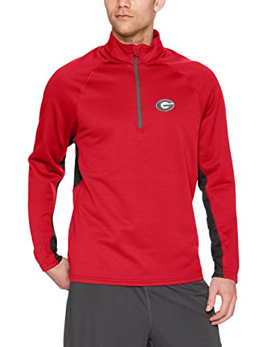 OTS NCAA Georgia Bulldogs Adult Men NCAA Men's Poly Fleece 1/4-Zip Pullover, X-Large, (University Ncaa Classic Fleece)