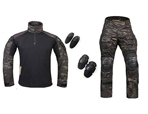 H World Shopping Emerson Army Gen3 G3 Combat BDU Uniform Shirt & Pants Suit Multicam Black