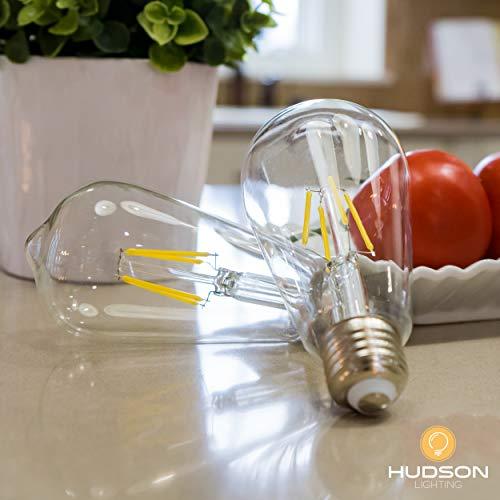 Dimmable LED Edison Light Bulbs: 6 Watt, 2700K Warm Lightbulbs - Amber Gold Tint - 60W Equivalent - E26 Base - Vintage Light Bulb Set - 6 Pack