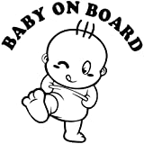 Baby On Board Black Decal Vinyl Sticker|Cars Trucks Vans Walls Laptop| Black |5.5 x 5.5 in|LLI554
