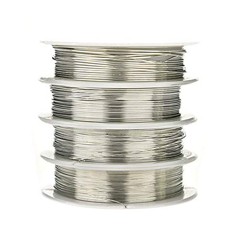 0.3/0.4/0.6/0.8mm Plated Copper Wire Beads Jewelry Making Accessories DIY Craft - Silver 0.8 mm qsbai