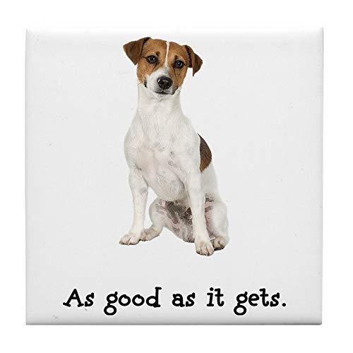 CafePress Good Jack Russell Terrier Tile Coaster, Drink Coaster, Small Trivet