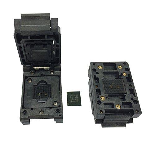 eMMC153 eMMC169 BGA153 BGA169 Test Socket IC Body Size 12x18mm Pin Pitch 0.5mm Clamshell Reader Adapter Burn in Socket Data Recovery