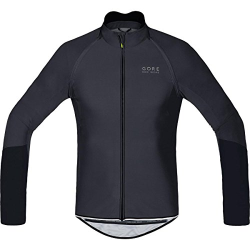 GORE BIKE WEAR, Men´s, Cycling jersey, Detachable sleeves, GORE WINDSTOPPER Soft Shell, POWER WS SO, ZO, Size L, Black, - Triathlon Spanish City