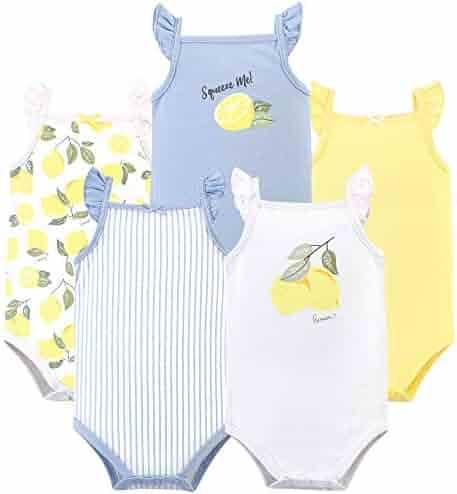 Hudson Baby Baby Girls' Sleeveless Cotton Bodysuits