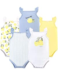 Baby Girls' Sleeveless Cotton Bodysuits