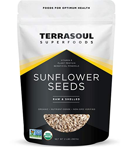 Terrasoul Superfoods Organic Hulled Sunflower Seeds, 2 Pounds (Non Gmo Sunflower Seeds Organic)