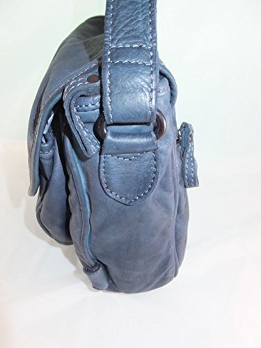 VOi Leather Blau Borsa Design Leather Borsa secchiello donna Design a VOi a secchiello dpp1xRUnr