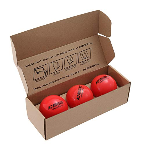 "(Rukket 3pk Weighted Baseballs / Softballs | Heavy Balls for Hitting, Batting, Pitching Practice (1lb. /16oz. 3"")"