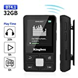 MP3 Player, 32GB Music Player with BT 4.1, Audio Walkman with Wearable Clips Support E Book,Voice Recorder,FM Radio,Photo Viewer, Expandable Up to 128 GB