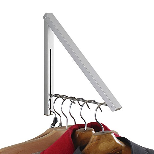 Qinisi Folding Clothes Hanger Wall Mounted Retractable