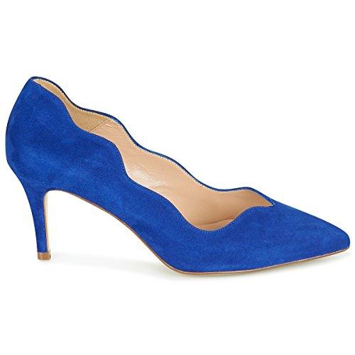 11sunshop Lederpumpenmodell GLANAE von HGilliane Design IM 33-44 Blue