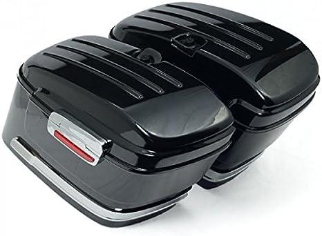nero lucido,fornite con tutto il necessario per linstallazione Borse rigide da moto standard.colore Vramack Seven