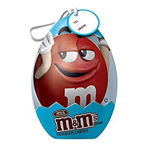 M&M'S Milk Chocolate Candy Easter Egg Tin 2.8-Ounce Gift Box (Pack of 6)