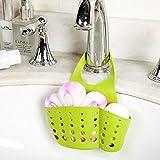 Wffo Kitchen Useful Sink Shelf, Soap Sponge Drain Rack, Bathroom Holder,Kitchen Storage Rack 4 Colors Optional (Pink)