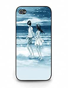 Handmade Durable Iphone 5 5S Cover With Trendy Love Story for Men