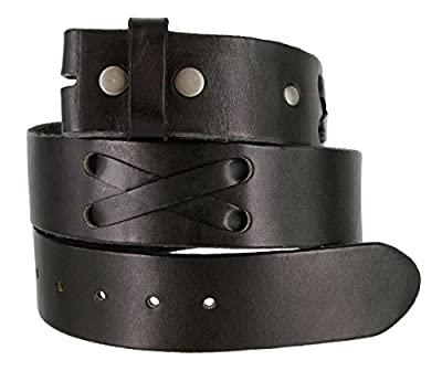 "TB105 Mens 100% Full Grain Genuine Leather Western X-Laced Casual Jean Belt Strap 1.75"" Wide"